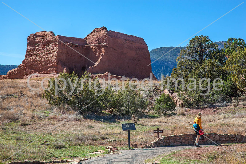 Cyclist at Pecos National Historical Park, NM - D1-3 - C3-0172 - 72 ppi