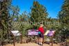 Cyclist on battlefield trail, Glorieta Unit of Pecos Nat'l Historical Park, NM - D4-C3-0298 - 72 ppi