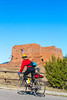 Cyclist at Pecos National Historical Park, NM - D4-C1-0174 - 72 ppi
