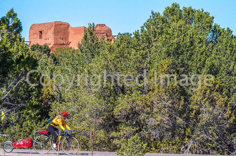 Cyclist at Pecos National Historical Park, NM - D1-3 - C-0082 - 72 ppi