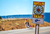 Cyclist on Santa Fe Trail near Pecos Nat'l Historical Park - D1-3 - C1-2 - 72 ppi