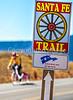 Cyclist on Santa Fe Trail near Pecos Nat'l Historical Park - D1-3 - C1-2 - 72 ppi-4