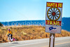 Cyclist on Santa Fe Trail near Pecos Nat'l Historical Park - D1-3 - C1-0132 - 72 ppi-3