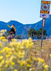 Cyclist on Santa Fe Trail near Pecos Nat'l Historical Park - D1-3 - C1-0100 - 72 ppi-2