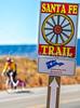 Cyclist on Santa Fe Trail near Pecos Nat'l Historical Park - D1-3 - C1-0132 - 72 ppi-2