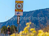 Cyclist on Santa Fe Trail near Pecos Nat'l Historical Park - D1-3 - C1-0106 - 72 ppi