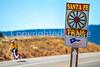 Cyclist on Santa Fe Trail near Pecos Nat'l Historical Park - D1-3 - C1-0132 - 72 ppi-4