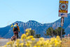 Cyclist on Santa Fe Trail near Pecos Nat'l Historical Park - D1-3 - C1-0095 - 72 ppi