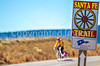 Cyclist on Santa Fe Trail near Pecos Nat'l Historical Park - D1-3 - C1-2 - 72 ppi-3