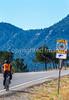 Cyclist on Santa Fe Trail near Pecos Nat'l Historical Park - D1-3 - C1-0053 - 72 ppi