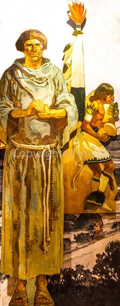 Visitor Center artwork at Pecos National Historical Park, NM - D1-3 - C2 --0290 - 72 ppi