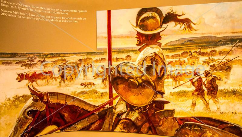 Visitor Center artwork at Pecos National Historical Park, NM - D1-3 - C2 --0111 - 72 ppi
