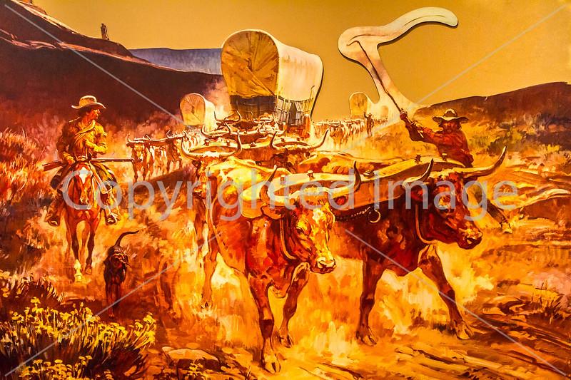 Visitor Center artwork at Pecos National Historical Park, NM - D1-3 - C2 --0115 - 72 ppi