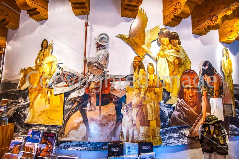 Visitor Center artwork at Pecos National Historical Park, NM - D1-3 - C2 --0288 - 72 ppi