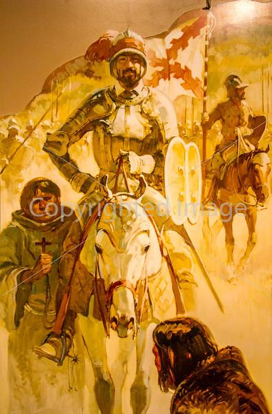 Visitor Center artwork at Pecos National Historical Park, NM - D1-3 - C2 --0109 - 72 ppi