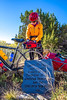 Cyclist at Apache Canyon on Santa Fe Trail in NM - D1-3 - C2-0096 - 72 ppi