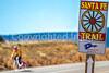 Cyclist on Santa Fe Trail near Pecos Nat'l Historical Park - D1-3 - C1-0132 - 72 ppi-5