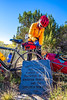 Cyclist at Apache Canyon on Santa Fe Trail in NM - D1-3 - C2-0097 - 72 ppi