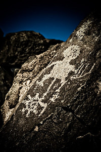 Rio Grande Style Petroglyph, Boca Negra Canyon trail Petroglyph National Monument, New Mexico