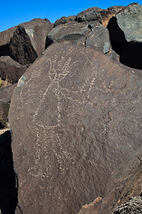 """Standard"" Processing Comparison Rio Grande Style Petroglyph Boca Negra Canyon trail Petroglyph National Monument, New Mexico"