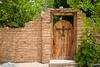 A rustic gate in the Pueblo of Isleta, New Mexico, USA.