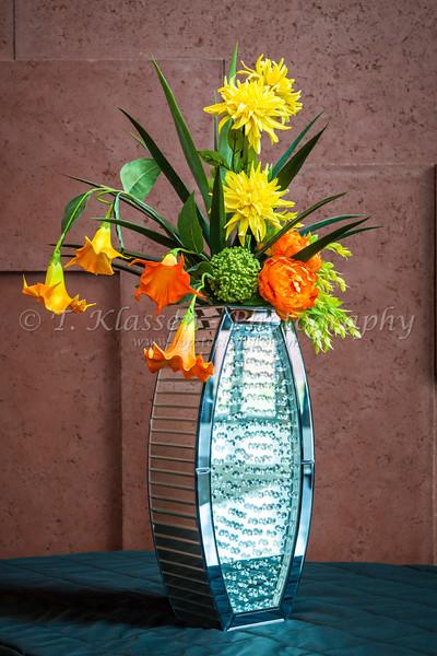Decorative flowers at the Isleta Casino Complex in the Pueblo of Isleta, New Mexico, USA.