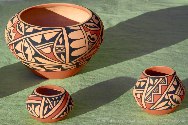 Native American Pottery, Santa Fe, NM.