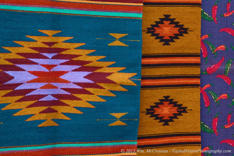 Colorful Blankets, Santa Fe, NM.