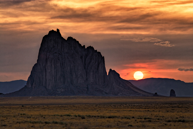 Wildfire Sunset Shiprock, New Mexico