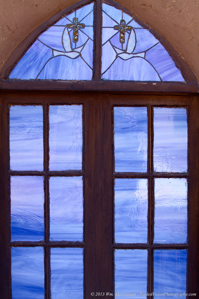 Stained Glass Window, San Geronimo Church, Taos Pueblo