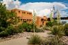The White Sands National Monument Visitors Center building near Alamogordo, New Mexico, USA.