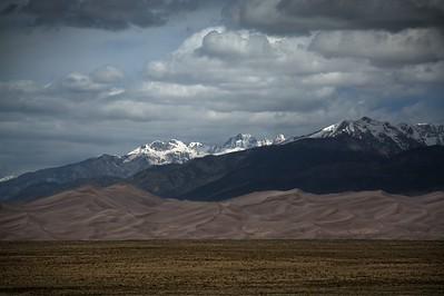 Sangre De Cristo Mountains with Sand Dunes