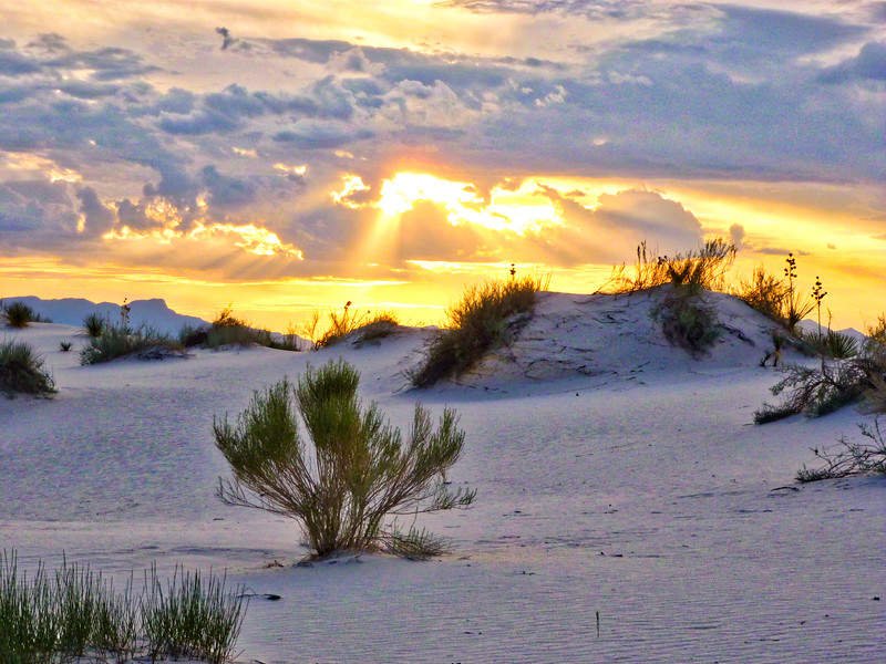 Sunset at White Sands