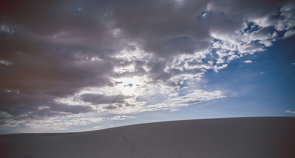 White Sands National Monument + Full Moon at Night