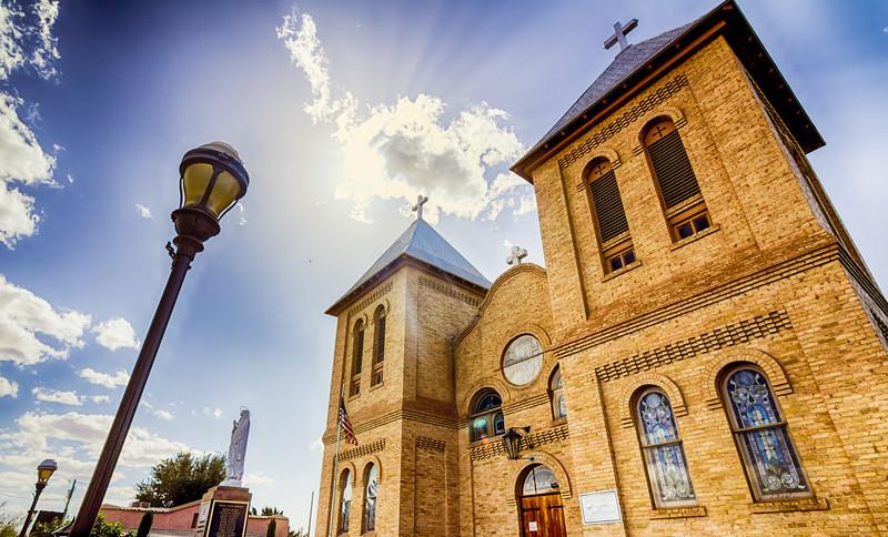 Basilica San Albino located in historic Mesilla, New Mexico.  Photo by Nathan Lefever.