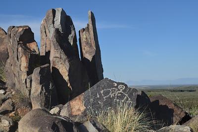 Man at Needle Rocks