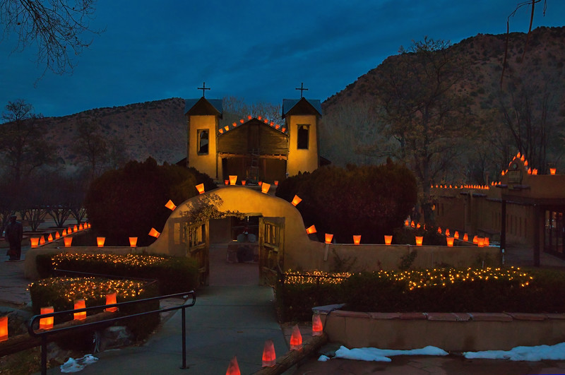 Santuario de Chimayo at Christmas