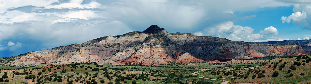Ghost Ranch Panorama. Chama River Valley, New Mexico