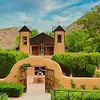 Considered one of the holiest places in North America, the Santuario de Chimayo in New Mexico is visited by hundreds of thousands who believe in the healing power of the dirt from this site. This church was built in 1810.