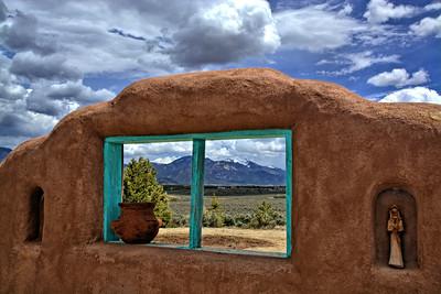 Window View of Taos Mountain