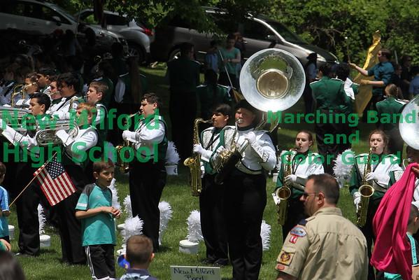NMHS band at the Sherman parade 2015