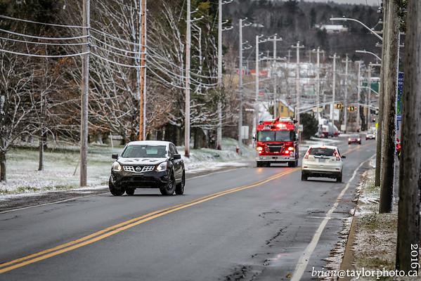 New Minas responds to a power pole on fire. Dec. 4, 2016