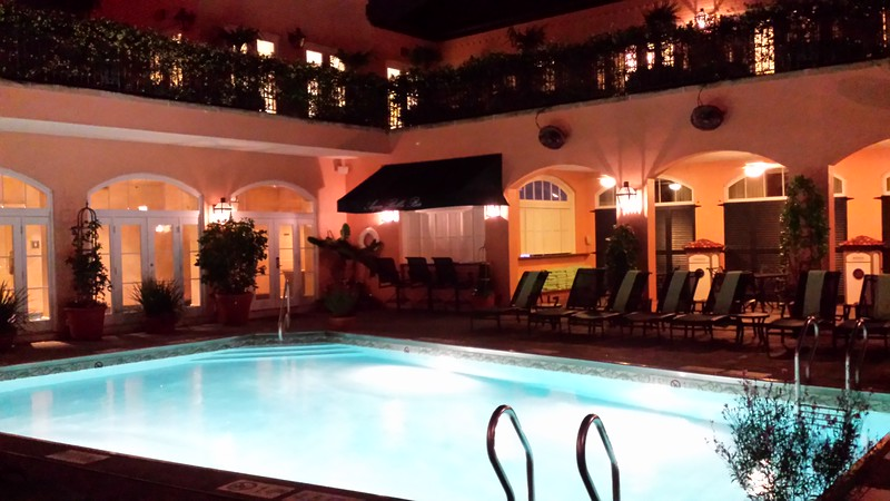 Rooftop pool, 16th floor--tallest hotel in French Quarter