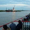 Our group of about 130 people took a riverboat dinner/cruise on the Natchez