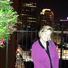 Cheri on rooftop of our hotel
