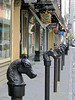 Old hitching posts in Rue Royale