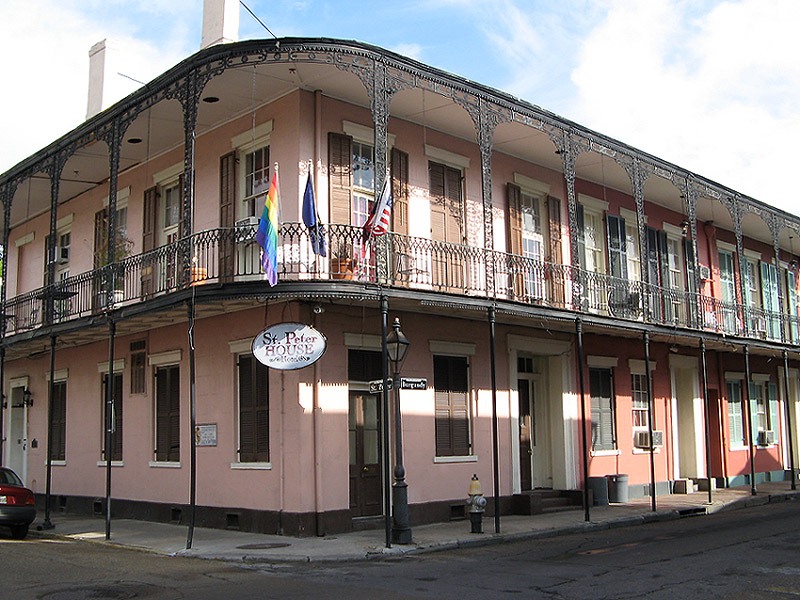 Street view of St Peter House Hotel, where I was staying, on the edge of the French Quarter