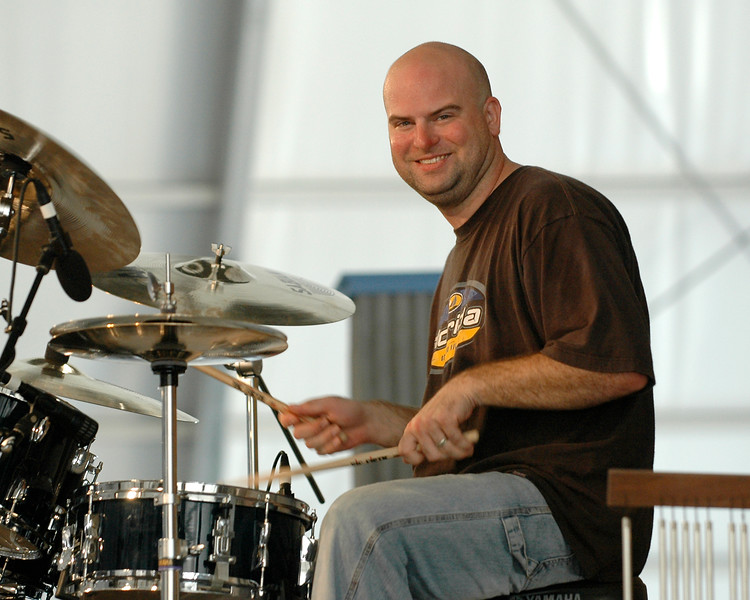 Kevin O'Day performing live on stage with John Mooney & Bluesiana at the New Orleans Jazz & Heritage Festival on May 3, 2008.