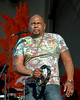 Aaron Neville  performing with the Neville Brothers in New Orleans for the first time since Hurricane Katrina at the New Orleans Jazz & Heritage Festival on May 4, 2008.