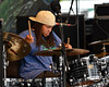 NEW ORLEANS, LA-May 3: Nikki Glaspie performs with Dumpstaphunk at the New Orleans Jazz & Heritage Festival in New Orleans, LA on May 3, 2012. (Photo by Clayton Call/Redferns)